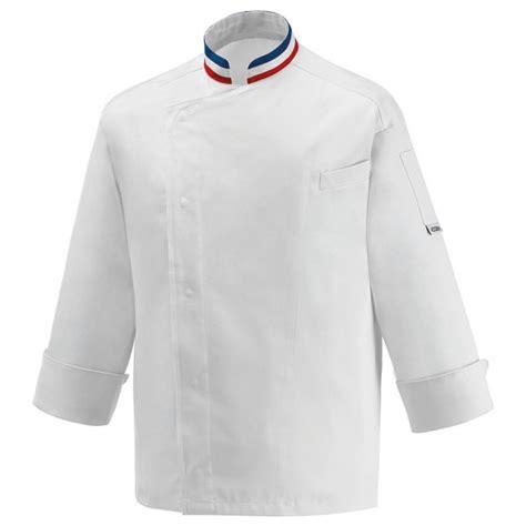 vestes de cuisine veste de cuisine mof col bleu blanc broderie possible