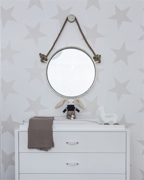 Ferm Living Animal Farm Wallpaper - white and green nursery with ferm living animal farm
