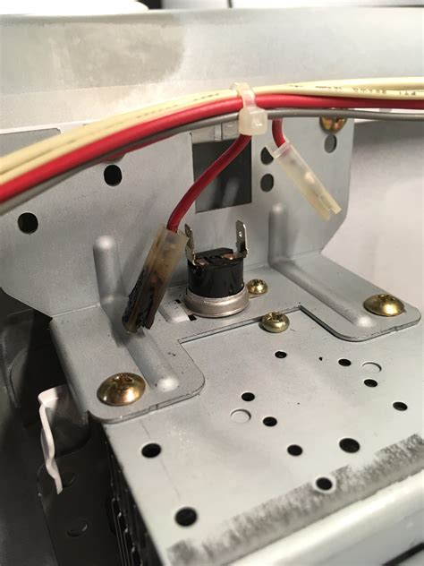 ge monogram microwave zesf magnetron thermal fuse blown  burned diy appliance repair