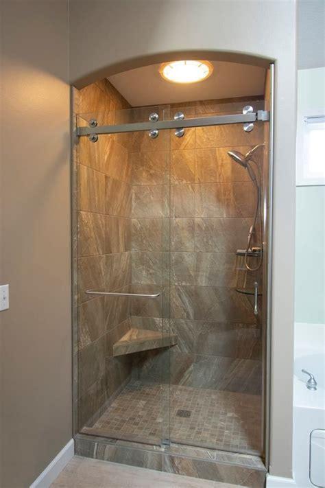 pin  splendor shower door   barn style shower