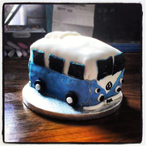 vw bus birthday cake