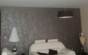 peinture gris metallise pour mur 1 pour un mur effet With peinture beton cire mur