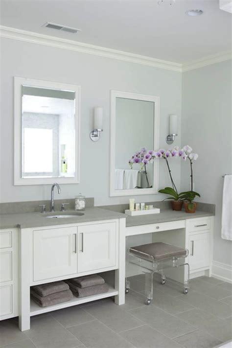 Blue Gray Bathroom Cabinets Design Ideas