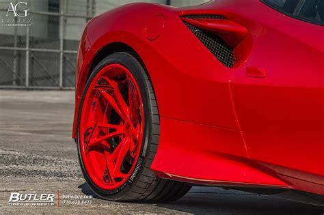Designed by the ferrari styling centre, the f8 tributo is essentially a bridge to a new exterior design language. AG Luxury Wheels - Ferrari F8 Tributo AGLuxury AGL47 SPEC3 ...