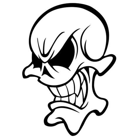 cartoon skulls images clipartsco