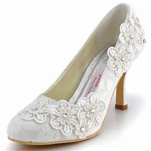 2015 handmade lace flower wedding dress shoes lady With dress shoes for wedding