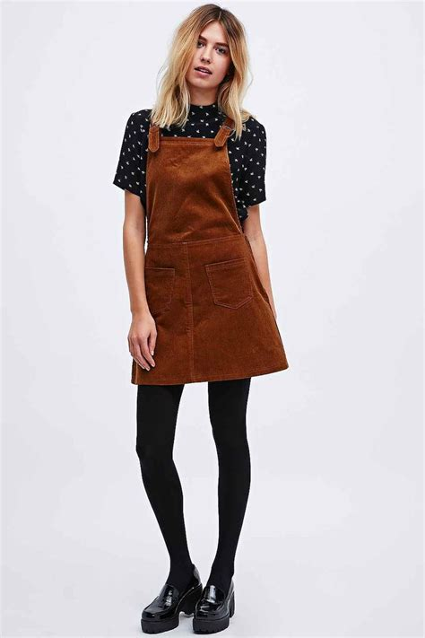 Cooperative By Urban Outfitters Corduroy Dungaree Dress