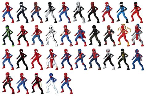 Spider Man Suits All