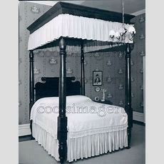 1959 Antique 4 Poster Bed With Canopy Press Photo  Ebay