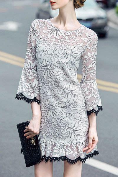 blacktang white flounce flare sleeve mini dress mini