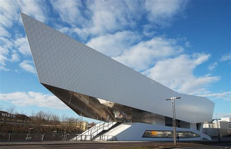 delugan meissl porsche museum porsche museum in stuttgart germany modernistic design