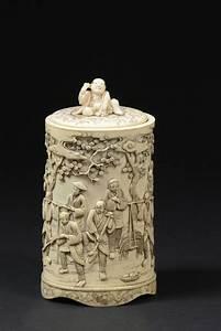 Pot A Couvert : ivoire pot couvert en ivoire asium ~ Teatrodelosmanantiales.com Idées de Décoration