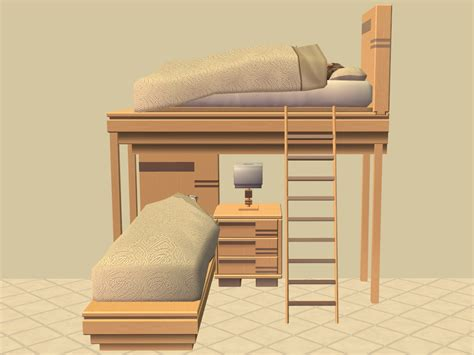 mod  sims glamour life bunk bed