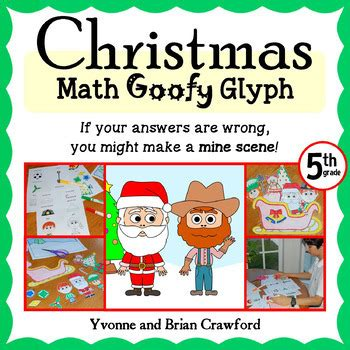 free christmas glyphs for fourth grade math goofy glyph 5th grade common by yvonne