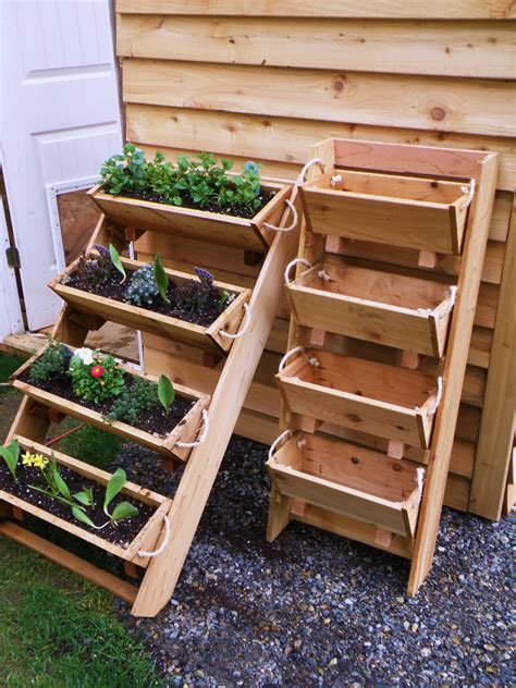 vertical vegetable garden planters new 24 vertical gardening raised elevated planting by ropedoncedar
