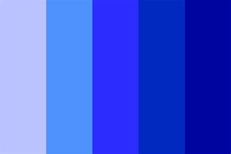 shades of the color blue shades of blue color palette