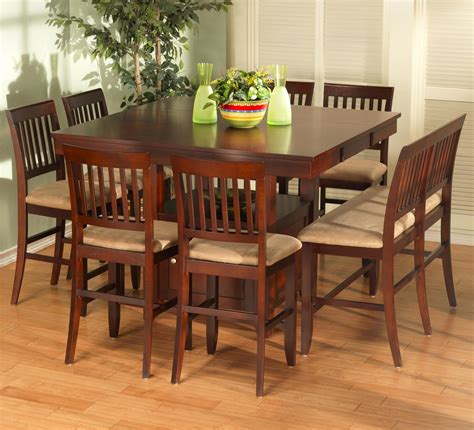 5 pcs/set living room contemporary dining table chair set restaurant bistro vintage style wooden desk upholstered chair. New Classic Brendan 8 Piece Storage Pub Table, Bench, and Counter Chair Set | Dunk & Bright ...