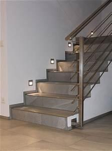 Terrassen Fliesen Großformat : treppenhaus mit grossformatigen feinsteinzeug fliesen ~ Frokenaadalensverden.com Haus und Dekorationen