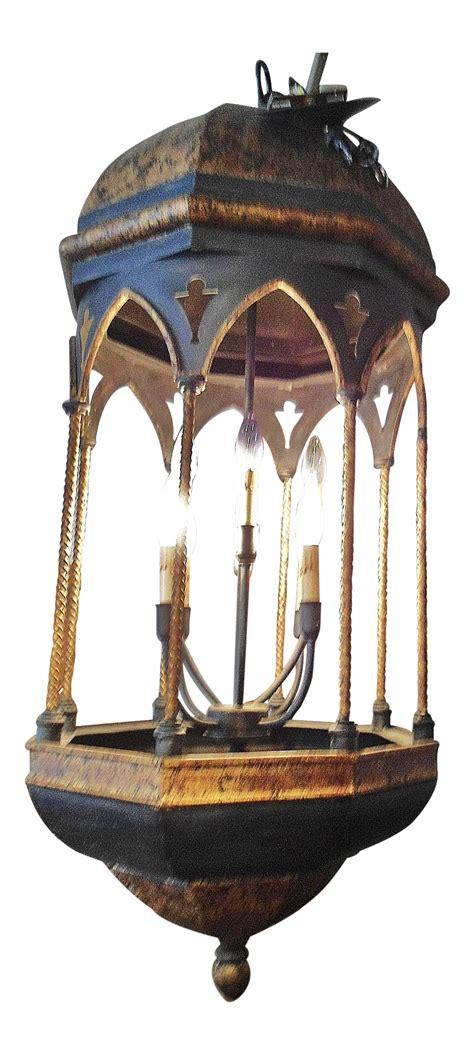 Large Lantern Style Chandelier - lantern style large 8 light chandelier chairish