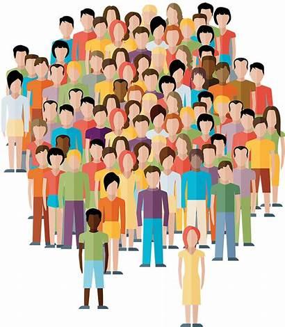 Transparent Clipart Population Crowd Community Person Human
