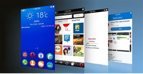 application opera mini for the samsung gear s and z1