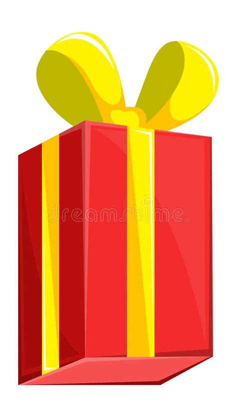 cartoon gift box christmas vector illustration stock