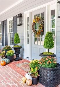 Inspiring, Front, Porch, Decor, Ideas, For, Fall