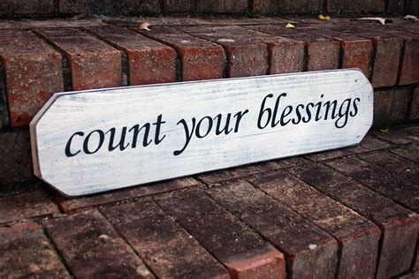 count your blessings painted wood sign signs by andrea