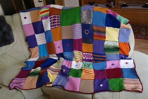 decke stricken oder häkeln quadrate patchwork decke h 228 keln my
