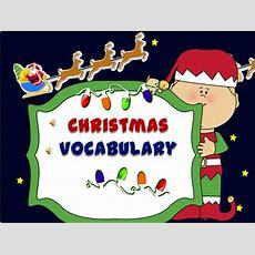 Christmas Vocabulary Powerpoint