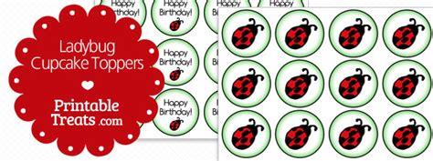 printable ladybug cupcake toppers printable treatscom