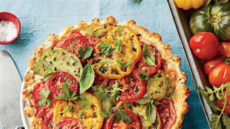 tomato cheddar  bacon pie fresh tomato recipes southern living