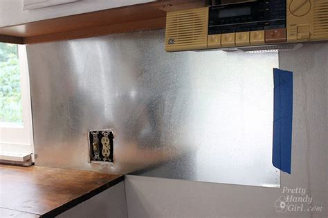 Install Your Own Magnetic Metallic Backsplash a #