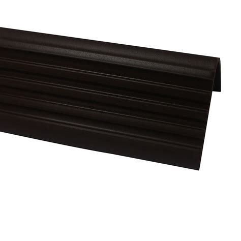 Stair Nosing For Tile Home Depot by Shur Trim Vinyl Stair Nosing Brown 1 7 8 Inch The