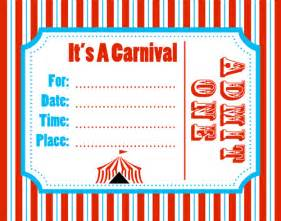 6 best images of free printable carnival flyers templates With carnival tickets template free printable