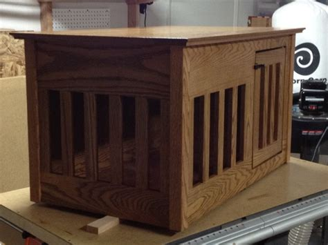 dog cage end table dog crate end table by cusas6 lumberjocks com