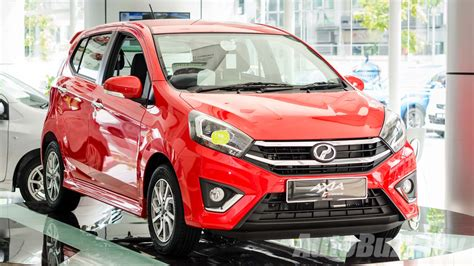 perodua axia facelift launched   dvvt