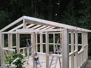 Dach Selber Bauen : gartenhaus dachstuhl bauen my blog ~ Lizthompson.info Haus und Dekorationen