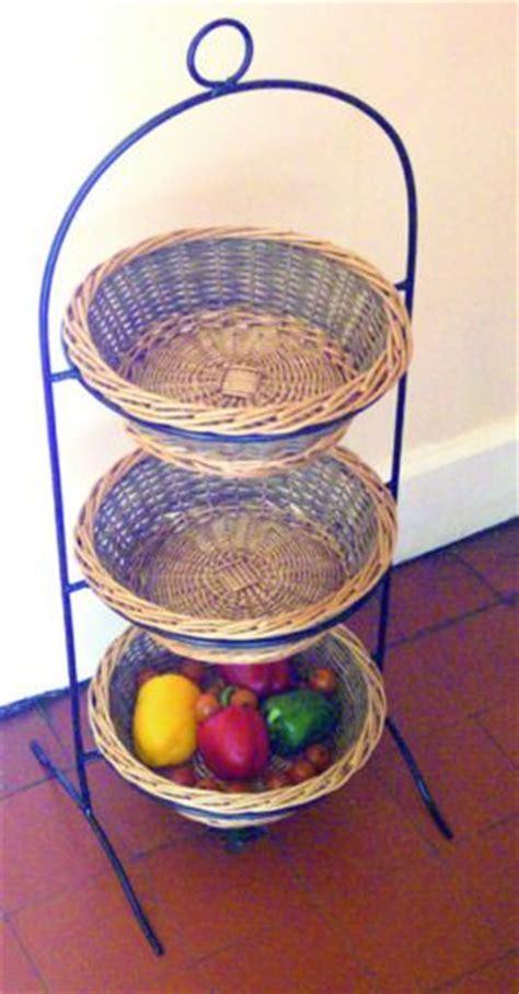 tier willow basket vegetable fruit sundries storage
