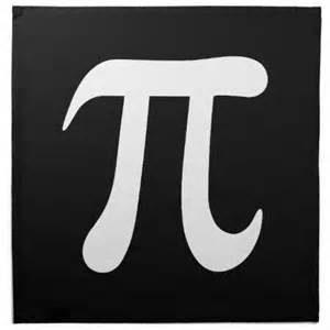 Black and White Pi Symbol