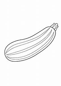 Zucchini clipart black and white - Pencil and in color ...