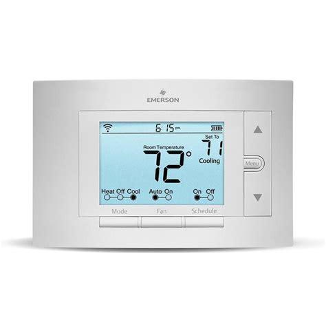 shop emerson sensi thermostat  built  wifi  lowescom