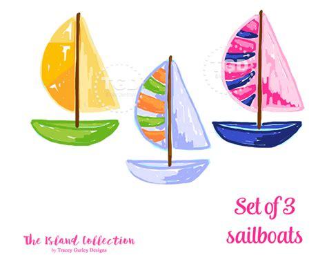 Preppy Sailboat Clip Art Preppy Boat Clip Art Original Art