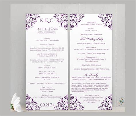 wedding reception program template wedding ceremony program template 31 word pdf psd indesign files free premium