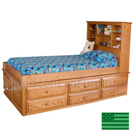 captains bed   usa solid wood childrens