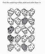 Coloring Preschool Scarf Printable Mitten Mittens Kindergarten Worksheets Printables Worksheet Sheet Sheets Activities Match Theme Adults Popular Word Preschoolers Snow sketch template