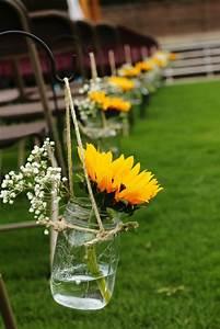 Blumendeko Im Glas : faszinierende dekoideen mit sonnenblumen ~ Frokenaadalensverden.com Haus und Dekorationen