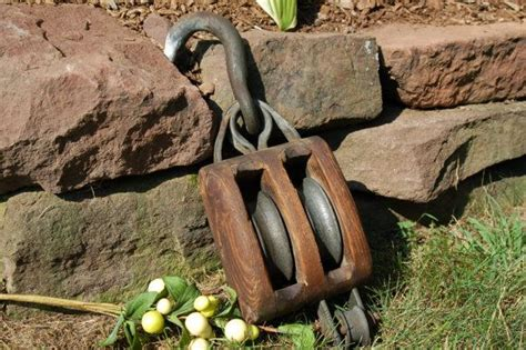Antique Pulley Barn Double Rope Farm Tool