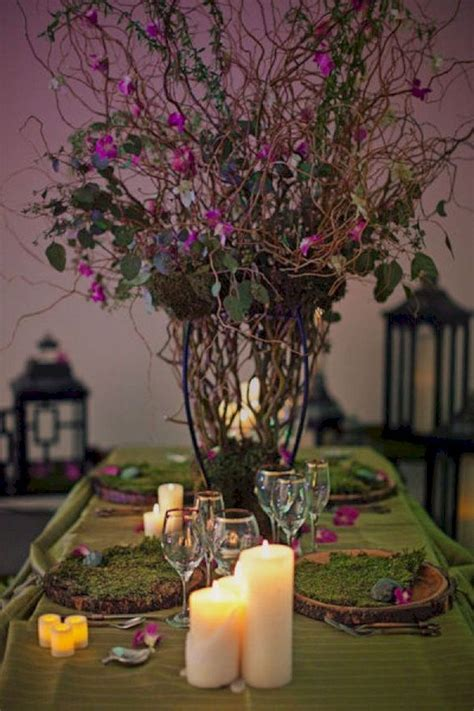 Enchanted Forest Wedding Centerpieces Oosile