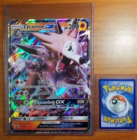 Shop comc's extensive selection of pokemon cards. Pokemon Lycanroc GX SM14 Jumbo Oversized Card + Hard Top Loader Sleeves - FAST!   eBay